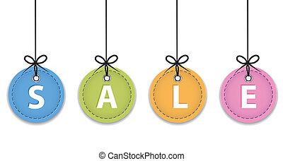 クリスマス, セール, ラベル