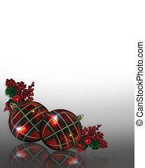 クリスマス, デザイン, コーナー, 装飾