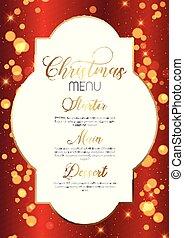 クリスマス, デザイン, メニュー