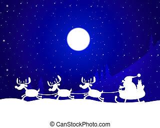 クリスマス, トナカイ, ∥示す∥, サンタクロース, そして, 祝福