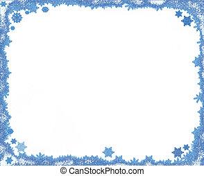 クリスマス, フレーム, コピー, 雪片, スペース