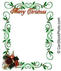 クリスマス, ボーダー, フレーム