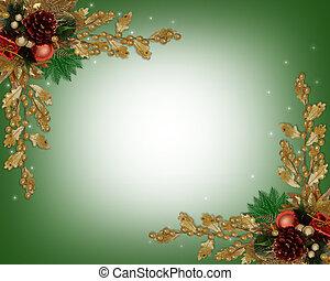 クリスマス, ボーダー, 優雅である