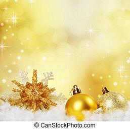 クリスマス, ボーダー, design., 抽象的, 休日, 背景