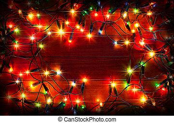 クリスマス, ライトに色を塗りなさい, 背景
