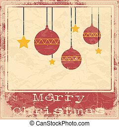 クリスマス, レトロ, カード