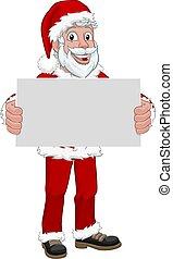 クリスマス, 保有物, claus, 若い, 印, santa, 漫画