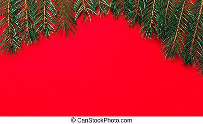 クリスマス, 光景, 上, 木