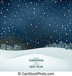 クリスマス, 冬, 夜