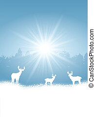 クリスマス, 冬, 背景