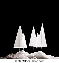 クリスマス, 冬, papercraft, 現場