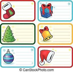 クリスマス, 名前, 4, コレクション, タグ