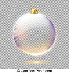 クリスマス, 地球, 木, ベクトル, おもちゃ, 現実的, 3d
