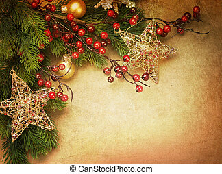 クリスマス, 型, グリーティングカード, ∥で∥, コピースペース