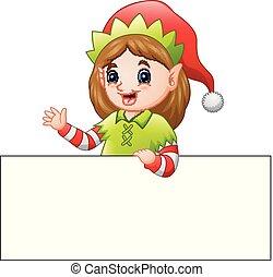 クリスマス, 妖精, 印, 振ること, ブランク, 漫画