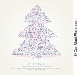 クリスマス, 定型, 木