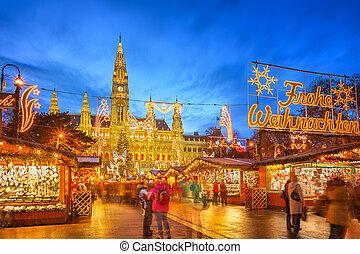 クリスマス, 市場, ウィーン