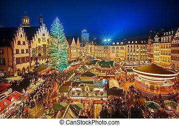 クリスマス, 市場, 中に, frankfurt