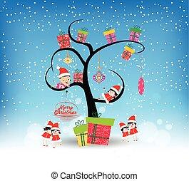 クリスマス, 幸せ, 陽気, 面白い