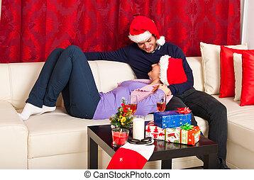 クリスマス, 恋人, 持つこと, 会話