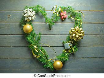 クリスマス, 愛 中心, 木