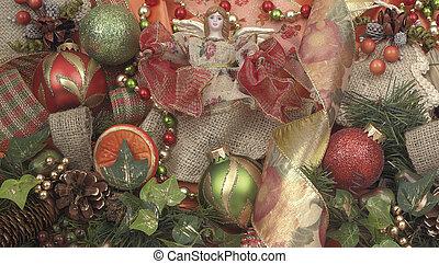 クリスマス, 手ざわり, 装飾