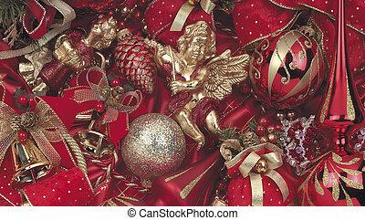 クリスマス, 手ざわり, 赤