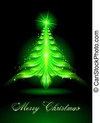 クリスマス, 抽象的, 木。