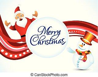 クリスマス, 抽象的, 芸術的, background.eps, 波