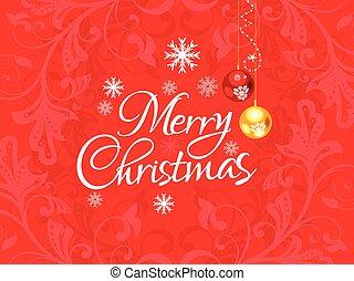クリスマス, 抽象的, 芸術的, background.eps, 赤