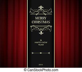 クリスマス, 招待, card.