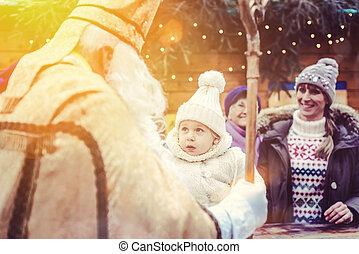 クリスマス, 拡大家族, st., 市場, nikolaus