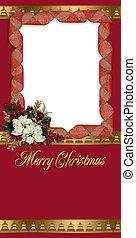 クリスマス, 挨拶, 写真, カード