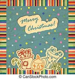 クリスマス, 新しい, 背景, 年