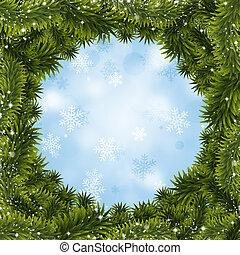 クリスマス, 木, 背景