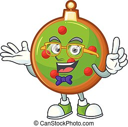 クリスマス, 漫画, 極度, geek, 面白い, 痛みなさい, ボール, マスコット, style.