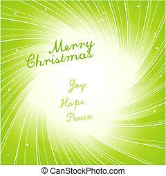 クリスマス, 現代, 招待, card.