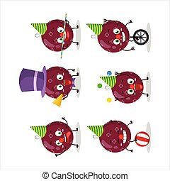 クリスマス, 紫色, 特徴, 漫画, ショー, 暗い, サーカス, 様々, ボール