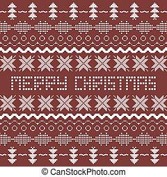 クリスマス, 背景, ∥で∥, スカンジナビア人, seamless, pattern.