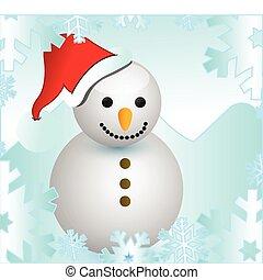 クリスマス, 背景, ∥で∥, 雪だるま