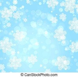 クリスマス, 背景, の, 青, 色