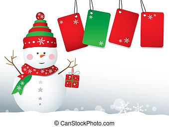 クリスマス, 背景, デザイン, サラソウジュ