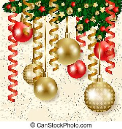 クリスマス, 背景, 安っぽい飾り