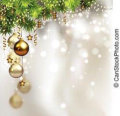 クリスマス, 背景, 木, モミ