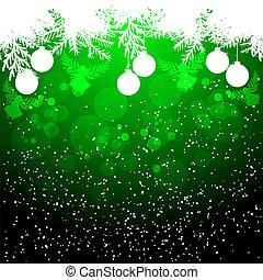 クリスマス, 背景, 緑