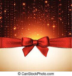 クリスマス, 背景, 赤, bow.