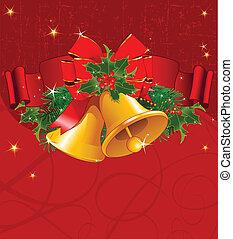 クリスマス, 背景, 赤
