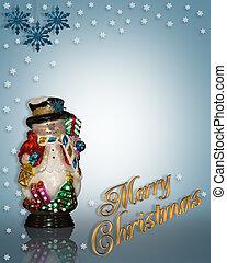 クリスマス, 背景, 雪だるま