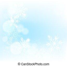 クリスマス, 背景, 雪片