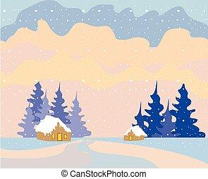 クリスマス, 背景, 雪
